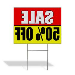 Sale 50% Off Promotion Business Corrugated Plastic Yard Sign