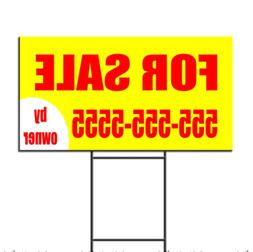 For Sale By Owner Real Estate Custom Phone Plastic Yard Sign