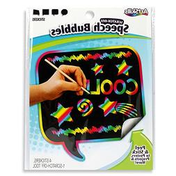 ArtSkills Scratch Off Speech Bubbles, Assorted Shapes, 4 Pie