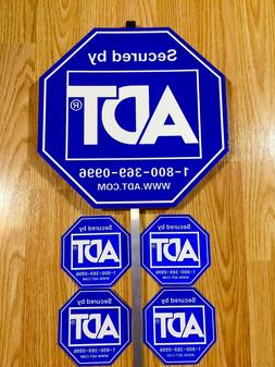 security alarm yard sign and 4 stickers