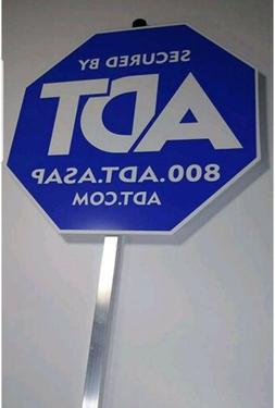 ADT SECURITY ALARM YARD SIGN w/ 16 DOUBLE SIDED STICKERS --