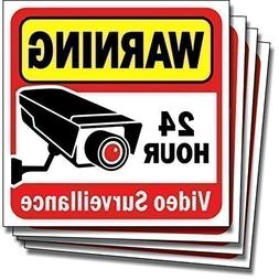 Video Security Surveillance Sticker Decals Sign for Home/Bus