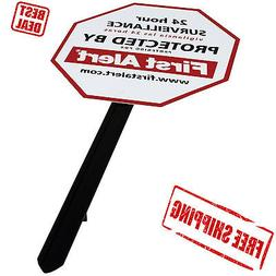 Security Yard Sign First Alert Home Alarm Stickers Warning P