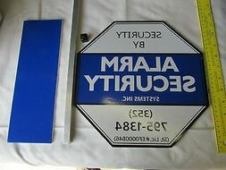SECURITY YARD SIGNS 11 inch , poles and Number plates REFLEC