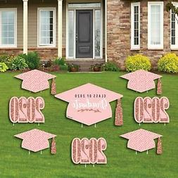*Set of 8* Light Blue Graduation Yard Sign and Outdoor Lawn