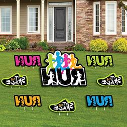 Big Dot of Happiness Set The Pace - Running - Yard Sign & Ou