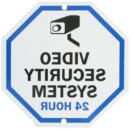 "SmartSign Aluminum Sign, Legend""Video Security System 24 Hou"