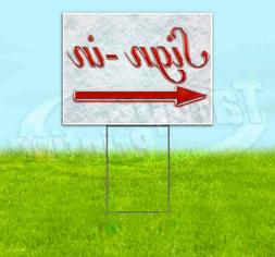 SIGN-IN LEFT ARROW Yard Sign Corrugated Plastic Bandit Lawn