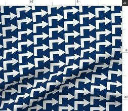 Sign Traffic Abstract Geometric Whimsical Fabric Printed by