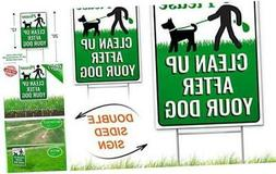 "Signs Authority Clean Up After Your Dog 12"" x 9"" Yard Sign w"