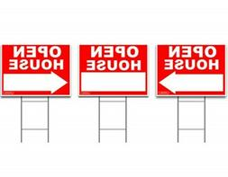 Signs'R Us Large OPEN HOUSE Sign Kit with Tall Stands - Yard