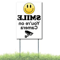 Smile You're On Camera Sign Security Surveillance Coroplast