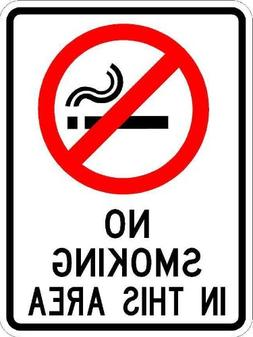 No Smoking in This Area Sign - 9 x 12 Business/Security Sign