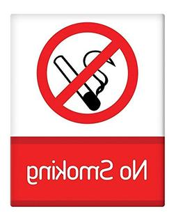 "Berg67Pater No Smoking Prohibited Sign Decoration 8"" x 12"" A"