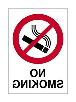 No Smoking Sign White Red Black Novelty Outdoor Sign Yard De