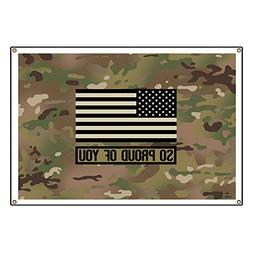 CafePress So Proud Of You: Military Camouflage - Vinyl Banne