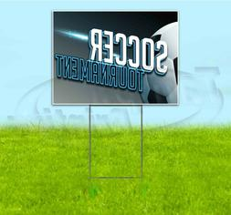 soccer tournament 18x24 yard sign with stake
