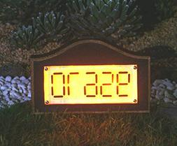 GEMART Solar Powered House Number Address Signs Arch