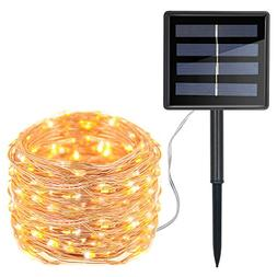 Moreplus Solar String Lights 72ft 200 LED Copper Wire Lights