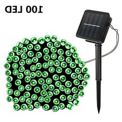 Solar String Lights,SOLMORE 55.8ft /17M 100 LED Solar Outdoo
