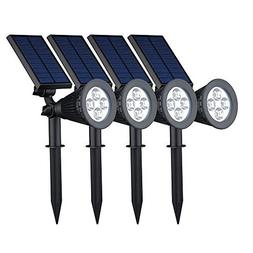 GMFive 4 Pack Solar Super Bright Outdoor LED Spotlight for P
