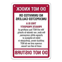 """No Soliciting Full Color Aluminum Sign - """" DO NOT KNOCK - DO"""
