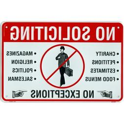 Tags America No Soliciting Sign, Metal Yard Sign for House,