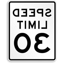 Speed Limit 30 MPH, High Intensity Grade Reflective Sign, 80