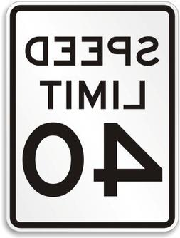Speed Limit 40 MPH, Engineer Grade Reflective Aluminum Sign,