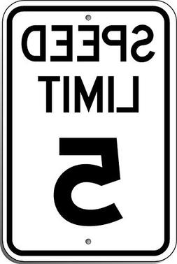 Speed Limit 5 Sign, Funny Decorative Yard Signs for Outdoors