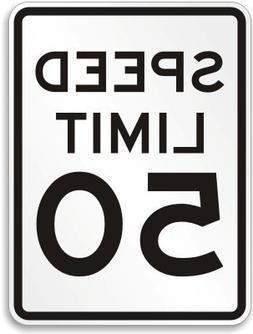 Speed Limit 50 MPH, Engineer Grade Reflective Aluminum Sign,
