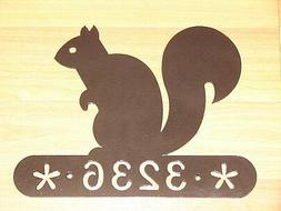 SQUIRREL HOUSE ADDRESS SIGN WALL DECOR  HOME YARD