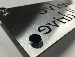Stainless Steel House Sign Laser Cut