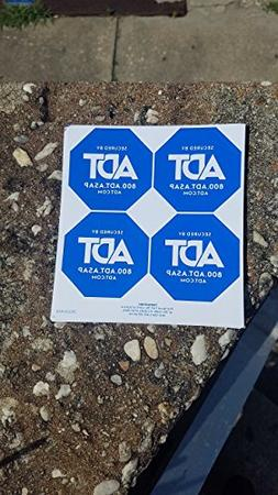 ADT Stickers 8 Brand New Double Sided bright blue Stickers P