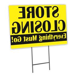 Store Closing Full Color Double Sided Sidewalk Signs