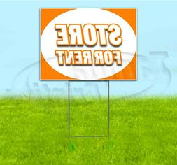 STORE FOR RENT 18x24 Yard Sign WITH STAKE Corrugated Bandit