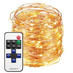 Mpow LED String Lights with Remote Control, 66ft 200LED Wate