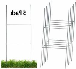 Sturdy Metal H Frame Wire Step Stakes for Yard Signs