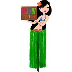 "Amscan Hula Girl with Tissue Skirt Party Yard Sign, 23.5"" x"