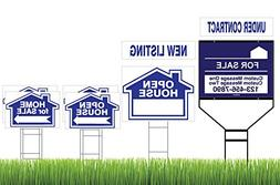 Blue Superior Open House & Home For Sale 8 Sign Bundle with