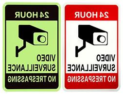 WISLIFE Video Surveillance Sign - ONE Piece, 40 Mil Rust-fre