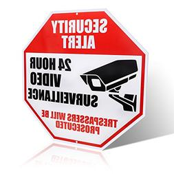 Video Surveillance Sign - REFLECTIVE - Business and Home 24