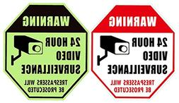 WISLIFE Video Surveillance Sign - ONE Piece, Glow in the Dar