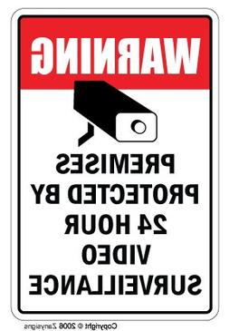 VIDEO SURVEILLANCE Sign Property Protected 24 Hour security