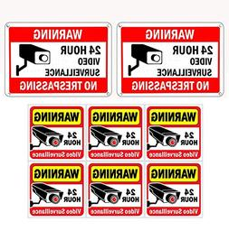WISLIFE Video Surveillance Sign Set, 2  Aluminum Warning Sig