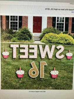 "Big Dot Of Happiness ""Sweet 16"" Yard Sign Lawn Decoration, H"
