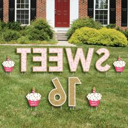 Big Dot Of Happiness Sweet 16 - Yard Sign Outdoor Lawn Decor