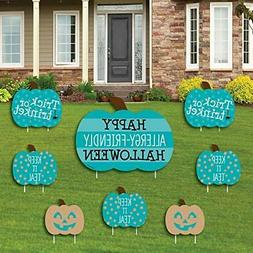 Big Dot of Happiness Teal Pumpkin - Yard Sign and Outdoor La