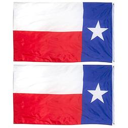 Juvale 2-Piece Texas State Flags - Outdoor 3x5 Feet Texas Fl