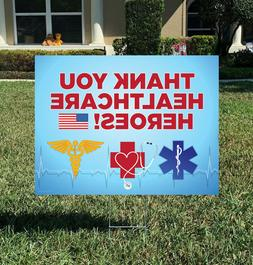 THANK YOU HEALTHCARE HEROES Yard Signs for Frontline Workers